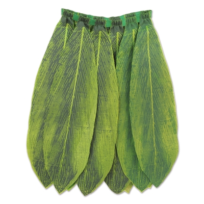 skirt that looks like large green tea leaves