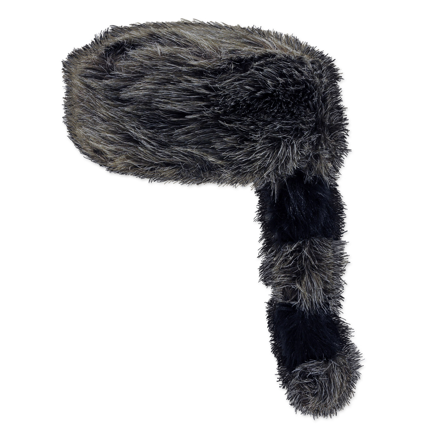 coonskin animal skin hat with tail