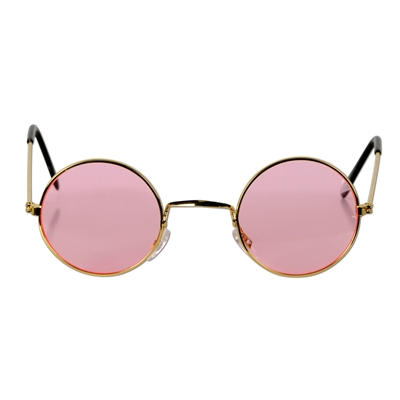 pink and gold hippie eyeglasses
