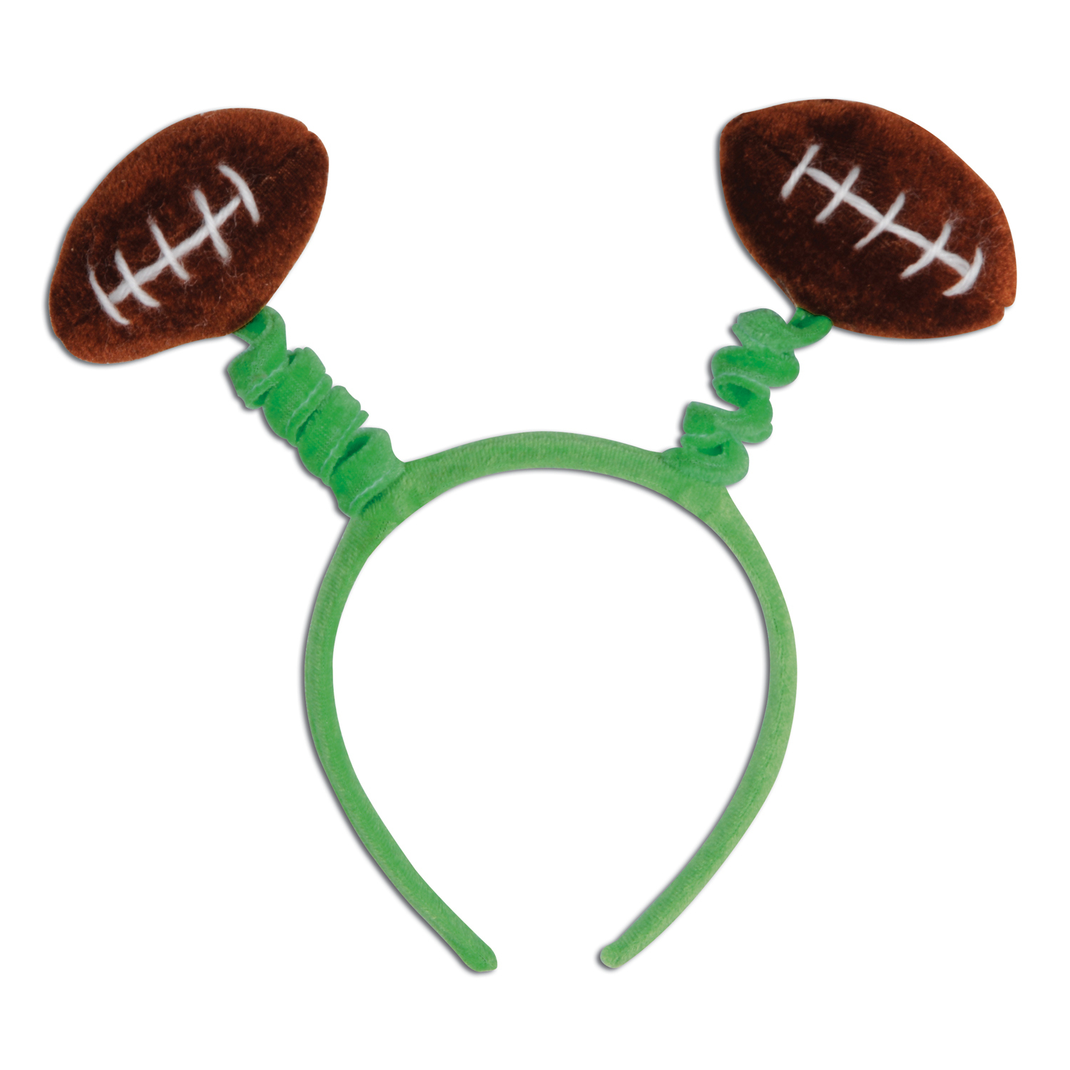 headband boppers with footballs on the top