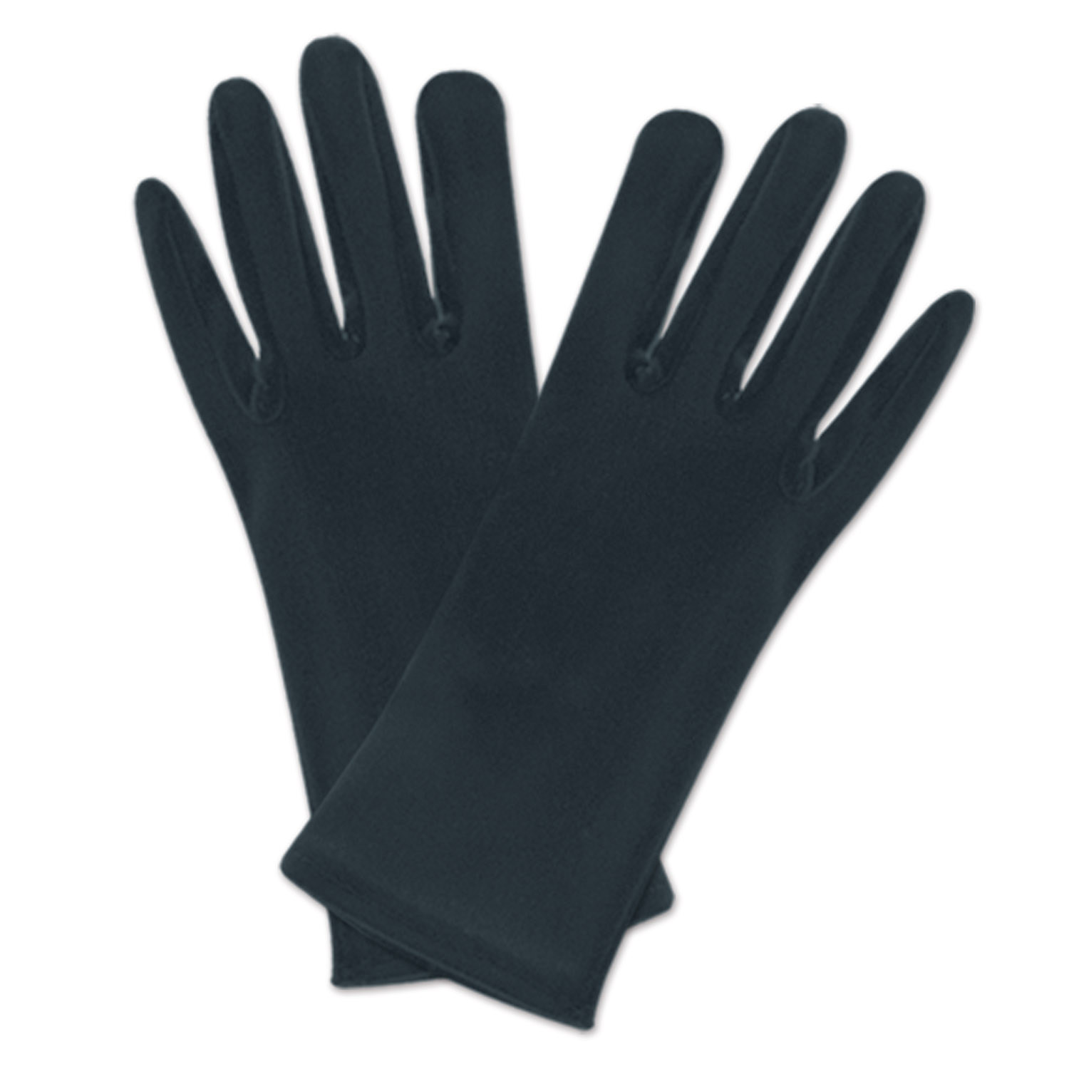 Black theatrical gloves that fits most people.