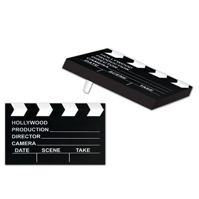 Hollywood clapboard party noisemaker.