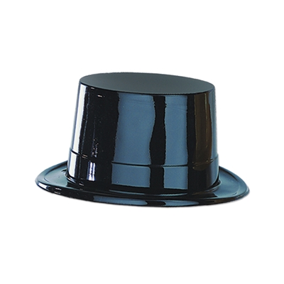 Plastic molded material shaped for the traditional top hat.
