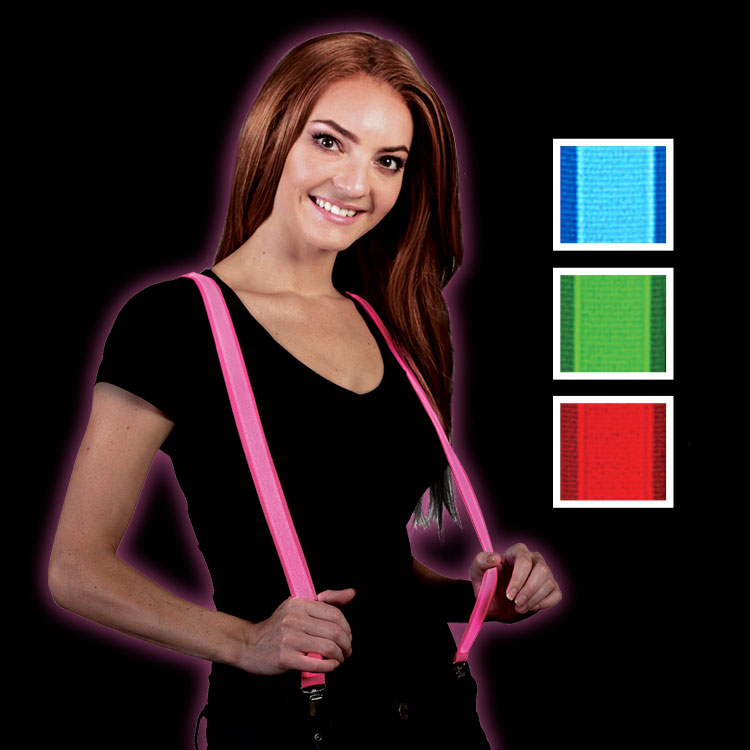 light up suspenders in an assortment of colors