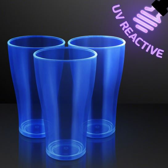 blue glasses that glow under a black light