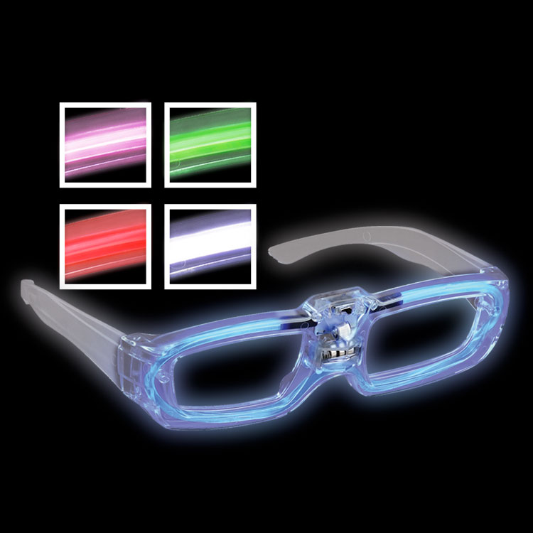 Light up party shades that come in blue, red, pink, green, and white.
