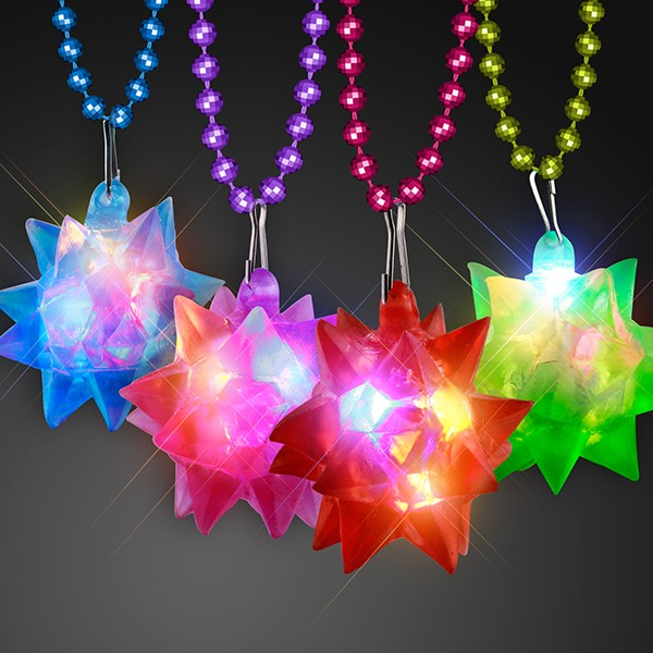 necklaces with a light up star hanging from the bottom