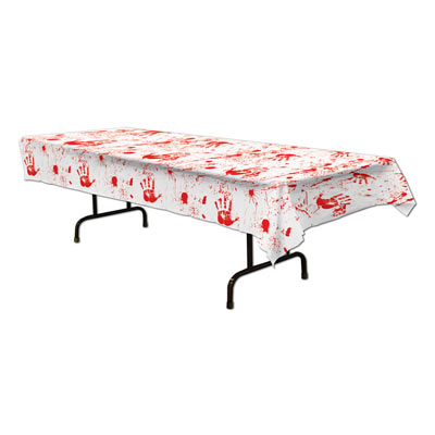 Bloody Handprints Tablecover (Pack of 12) .