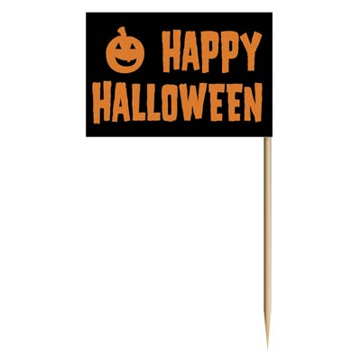 Happy Halloween Picks (Pack of 600) happy, Halloween, picks, toothpicks, party, appetizers, finger, foods, pack,