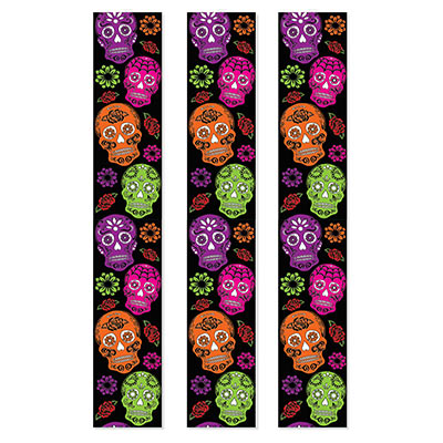 Day Of The Dead Party Panels (Pack of 36) Day Of The Dead, Party, Panels, halloween, skull, floral