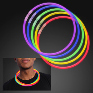 "Assorted Color 22"" Glow Necklaces (Pack of 25) LED Assorted Color 22"" Glow Necklaces. 22"" Glow Necklaces, Light up Necklaces, Themed Party Supplies, 22"" Light up necklace"