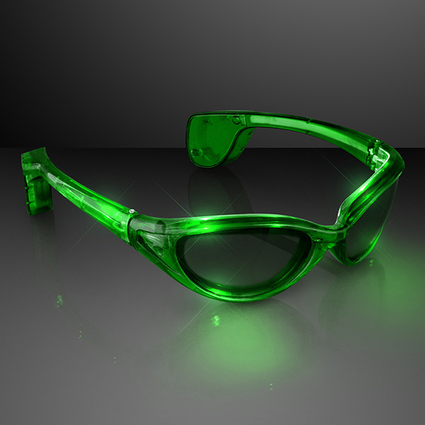 Jade Light Up Sunglasses (Pack of 12) LED Jade Light Up Sunglasses, light up sunglasses, themed parties, Eye glasses