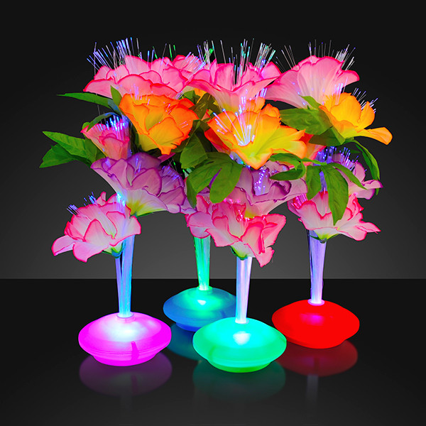 Fiber Optic LED Flower Centerpieces (Pack of 12) LED Fiber Optic Flower Centerpiece, Fiber Optic Centerpiece, Flower centerpiece, Luau themed party, themed parties