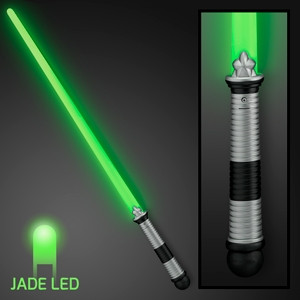 Light Up Green Saber. These Green light up sabers are perfect for glow in the dark parties.
