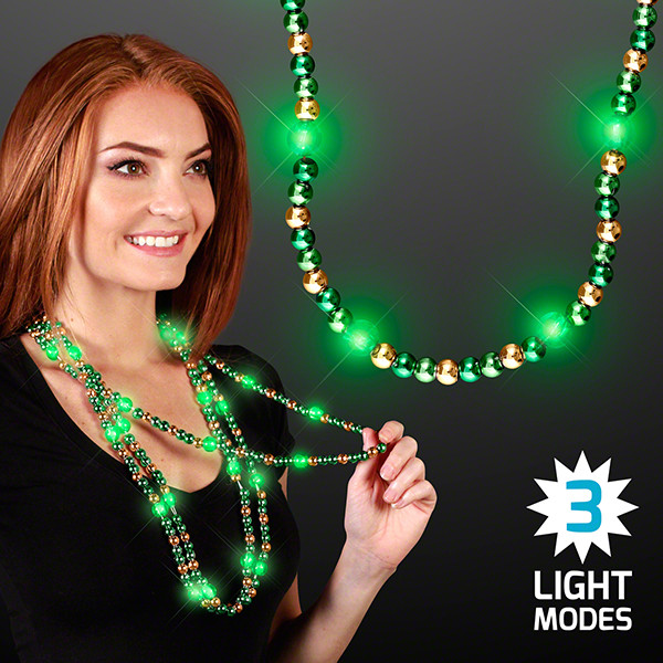 Flashing Light Up Beaded Necklace (Pack of 12)