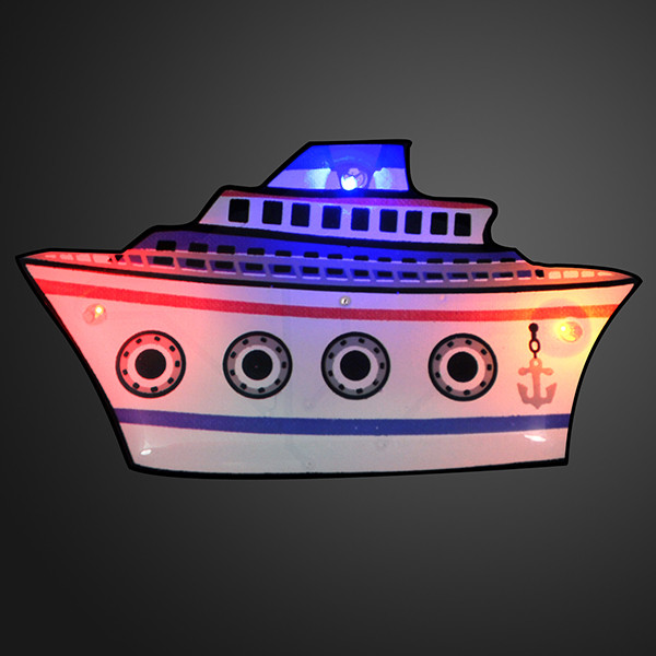 Cruise Ship Flashing Pin Blinkies. These Cruise Ship Flashing Pins are perfect for late night sailing.