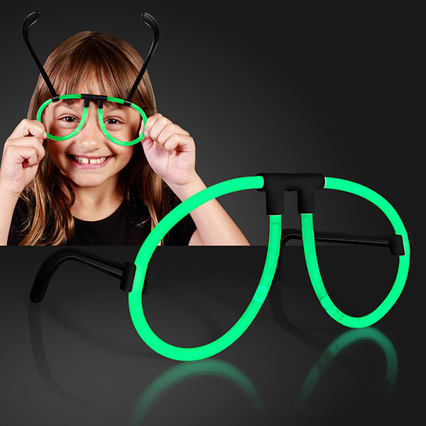 e1a0fbdc3a7 Green Glow Neon Glasses (Pack of 12) Bright Green Glow Neon Glasses