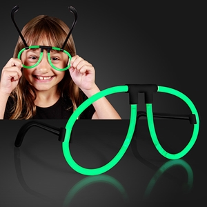 Green Glow Neon Novelty Glasses. These Green Glow Neon Novelty Glasses are perfect for glow in the dark parties.