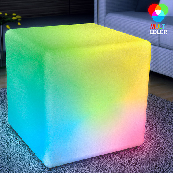 "16"" Big LED Cube Light Furniture. This Light Up Cube Furniture will add just the right amount of flare to any home."