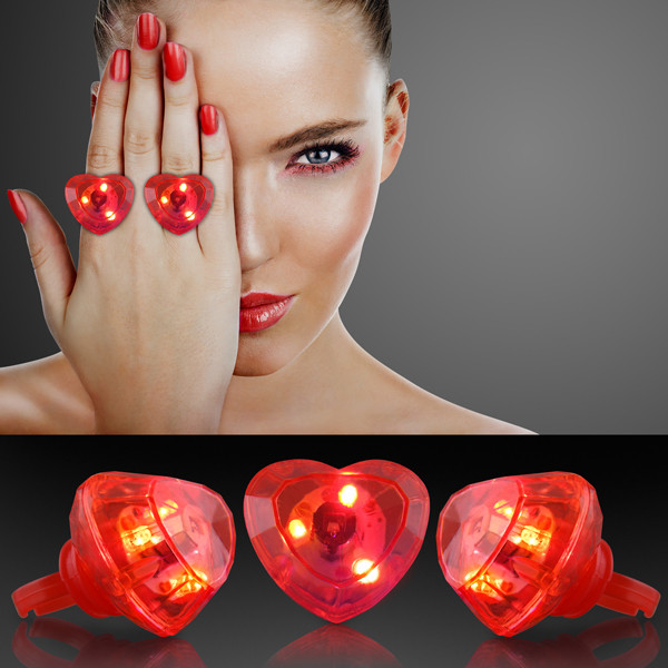 Huge Gem Flashing Heart Rings. These Huge Gem Flashing Heart Rings are perfect for the kiddos Valentines Day party at school.