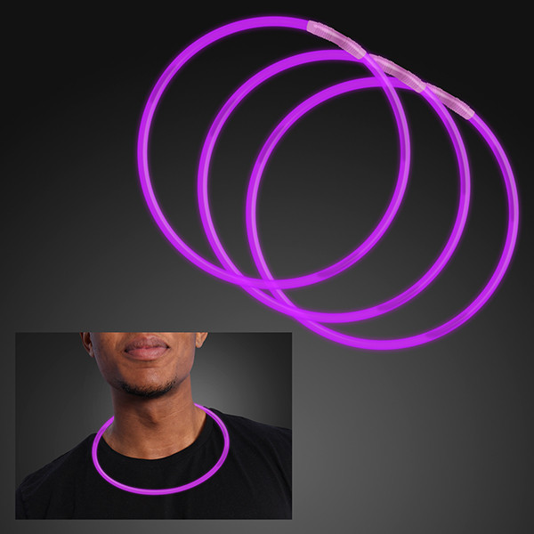 "22"" Purple Glow Necklace (Pack of 25)"