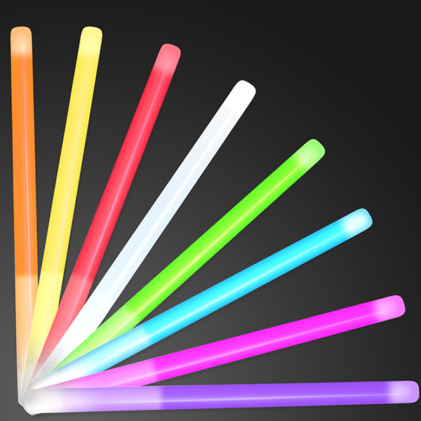 "Assorted Color 9.4"" Glow Stick Wands. These Glow Stick Wands are perfect for glow in the dark parties."