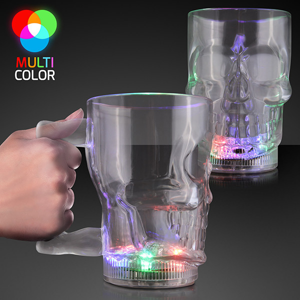 20 oz. Flashing LED Big Skull Mug (Pack of 12)