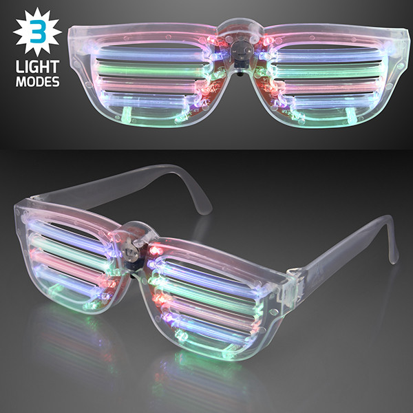 Flashing LED Rave Party Shades w/ Three Light Modes. These Rave Party Shades will make the perfect addition to any Rave Party outfit.
