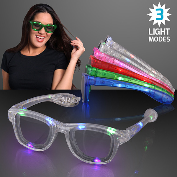Cool Shades LED Party Sunglasses w/ Three Light Modes. These Party Sunglasses are perfect for glow in the dark parties.