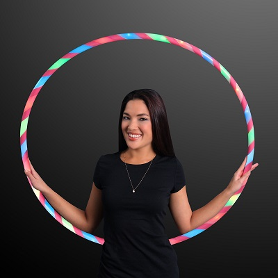 Red, green and blue light up hula hoop.