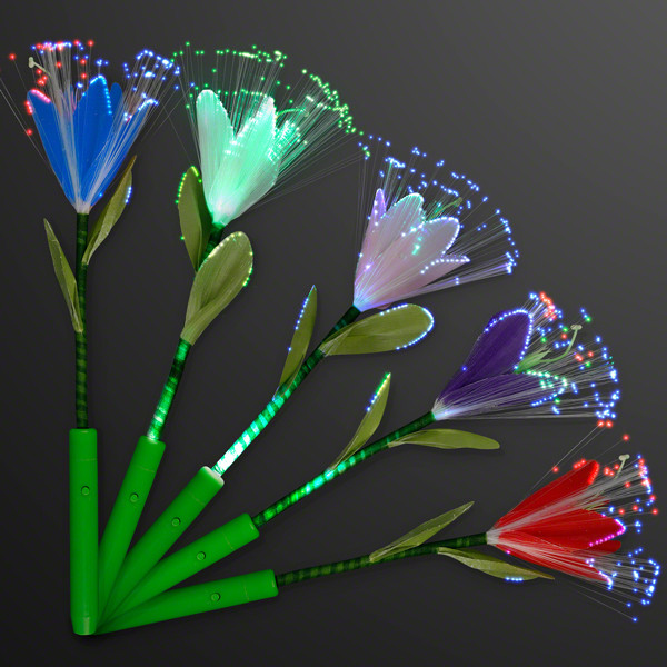 Fiber Optic LED Flowers in Assorted Colors. These Fiber Optic Flowers are perfect for those who love flowers, but are allergic to them.