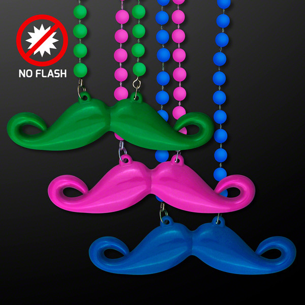 Assorted Color Mustache Beads. These Mustache Beads are the perfect accessory for that wacky Wednesday outfit.