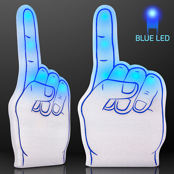 Light Up Blue #1 Foam Finger w/ Blue LED. With this Light Up Blue #1 Foam Finger everyone will know who is the biggest fan.