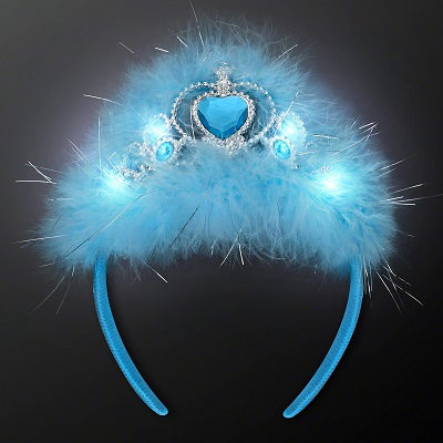 Blue Light Up Princess Crown Headband. This Blue Light Up Princess Crown Headband will let everyone know who the real princess is.