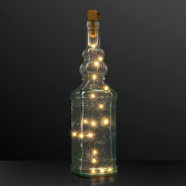 Crafty Cork Bottle Lights W/ Amber LED Lights