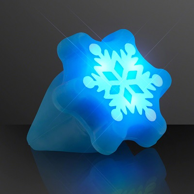 Snowflake shaped light up rings.