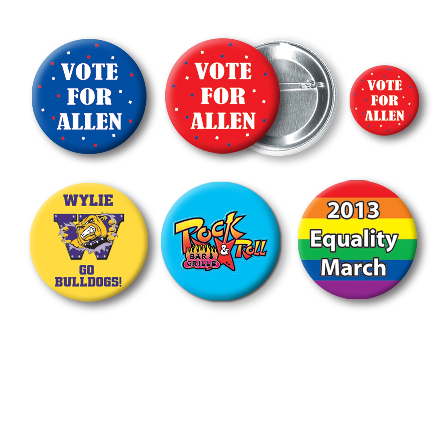 "1 3/4"" Custom Printed Buttons ."