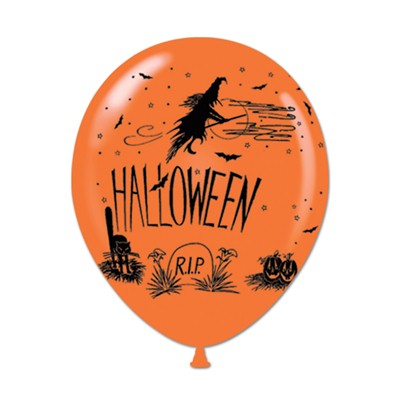 "11"" Halloween Balloon (pack of 50) Halloween, Balloons, Orange, Latex Balloons, Decorative Balloons, Wholesale party favors, Inexpensive party decorations, Party decor, Party Goods, Cheap, Bulk, Hanging Decor"