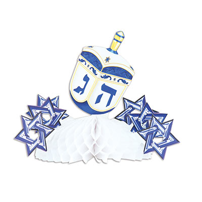 Dreidel Centerpiece (Pack of 12) Dreidel Centerpiece, dreidel, centerpiece, Star of David, decoration, Hanukkah, wholesale, inexpensive, bulk