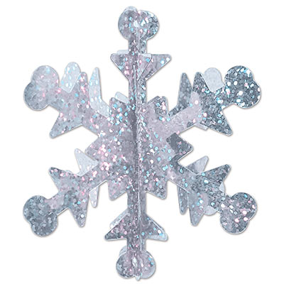 3-D Mini Prismatic Snowflakes (Pack of 60) 3-D, Mini Prismatic Snowflake, decoration, new years eve, christmas, wholesale, inexpensive, bulk