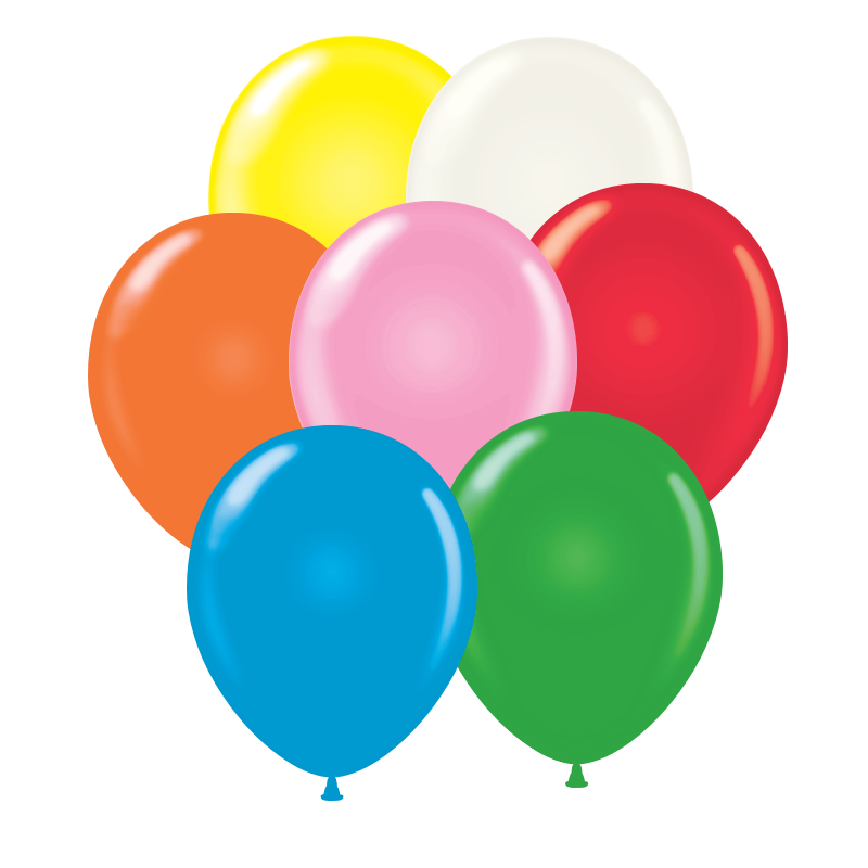 "14"" Standard Balloons (Pack of 144) - SELECT A COLOR 14"", fourteen, inch, assorted, white, standard, balloons, decoration, party, pack, birthday, restaurant, bar, casino,"