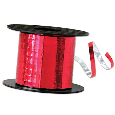 Metallic Curling Ribbon (Pack of 1) red, metallic, curling, ribbon, balloons, decoration, new years eve, christmas, inexpensive, wholesale, bulk