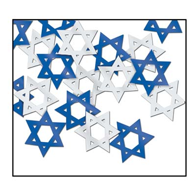 Fanci-Fetti Star Of David (Pack of 12) Fanci-Fetti Star Of David, fanci-fetti, star of david, decoration, Hanukkah, wholesale, inexpensive, bulk