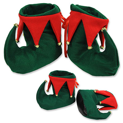 Elf Boots (Pack of 12) Elf Boots, party favor, christmas, decoration, wholesale, inexpensive, bulk