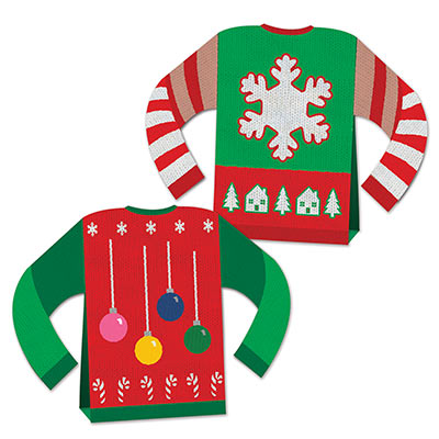 3-D Ugly Sweater Centerpiece (Pack of 12) 3-D Ugly Sweater Centerpiece, ugly sweater, centerpiece, decoration, Christmas, wholesale, inexpensive, bulk
