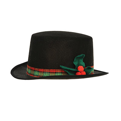 quality fabric top hat perfect for when you go caroling