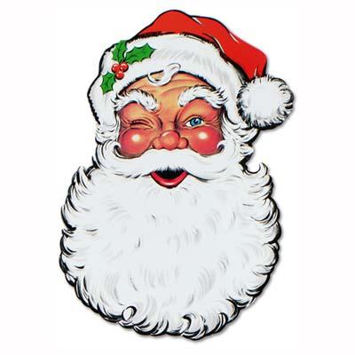 display santa face cutout