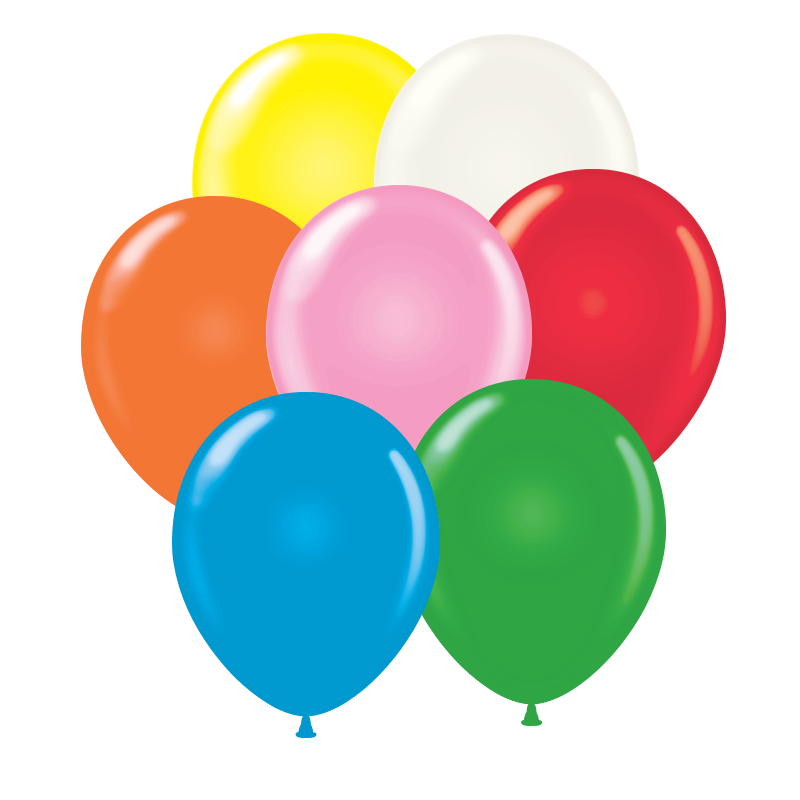 "9"" Standard Tuf-Tex Balloons (Pack of 100) - SELECT A COLOR Tuf-tex, Balloons, Standard Balloons, Latex Balloons, Assorted Colors, Circus, Birthday party, New Years Eve, Balloon Drop, Party goods, Cheap, Party supplies, NYE"