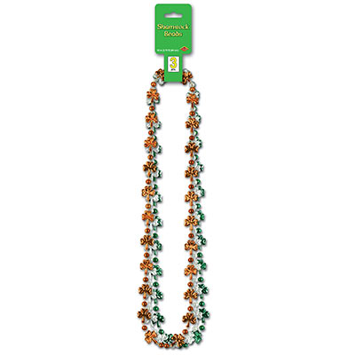 Shamrock Beads (Pack of 36) .