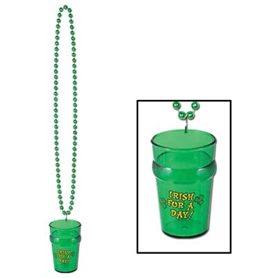 Beads w/St Pats Glass (Pack of 12) .